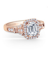 Kirk Kara Emerald-Cut Engagement Ring