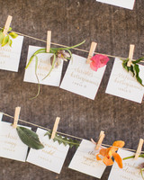 Escort Cards with Flowers