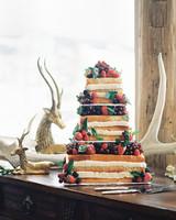Fruity Faux-Millefoglie Wedding Cake