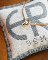 Ring Pillow with Initials