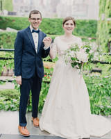 Cristina and Jason's Simply Chic Wedding in an Industrial Event Space