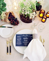 White Table Setting with Flowers and Fresh Fruit