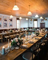Wooden Winter Reception Table