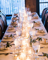 Candle and Glass Centerpiece