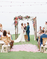 Pink, Purple, and Peach Floral Wedding Arch