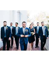 julie anthony real wedding groomsmen