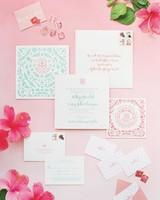 beachy wedding invitations