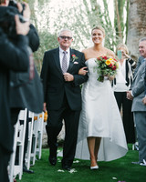 lisa louis wedding processional bride father