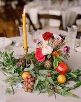 Eclectic Fruit Wedding Centerpiece