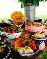 patriotic party snacks buffet