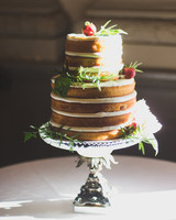 Lemon-Basil Wedding Cake with Strawberries