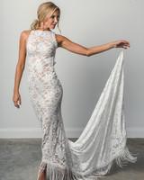 grace loves lace fringe high neck spring 2018 wedding dress
