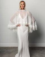 grace loves lace v-neck fringed poncho spring 2018 wedding dress