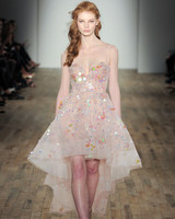 sparkly organza short Hayley Paige Spring 2018 Wedding Dress Collection