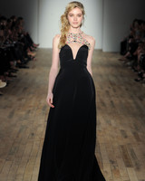 black a-line Hayley Paige Spring 2018 Wedding Dress Collection