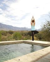 Yoga bachelorette retreat in the desert