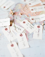 Escort Cards Pinned to Map