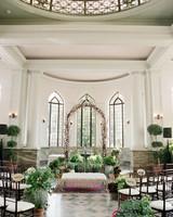 Simple Cotton Bloom Wedding Arbor