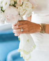 Bouquet with Initialed Handkerchief