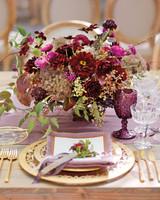 Vibrant Purple Centerpiece