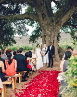 Ceremony Aisle with Red Petals
