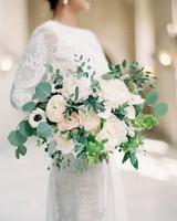 Lush, Romantic Bouquet with Roses, Anemones, and Ranunculus