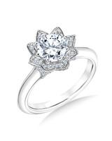 Karl Lagerfeld White Gold Engagement Ring
