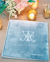 Blue Velvet Guest Book