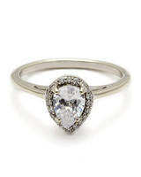 Anna Sheffield White Gold Engagement Ring