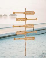 oar wedding signs