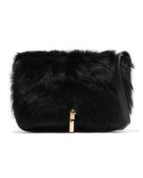 elizabeth and james cynnie leather fur shoulder bag