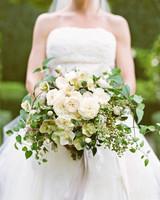 Overflowing White Wedding Bouquet