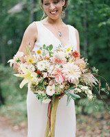 Yellow and White Bouquet with Red Accents
