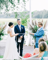 Bride and Groom Tying Knot