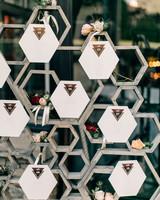 Honeycomb Wedding Inspiration, Escort Card Display