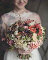 Big Muted Wedding Bouquet