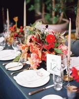 Bright Pink and Red Centerpiece