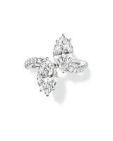Harry Winston Marquise-Cut Twin Diamond Platinum Engagement Ring
