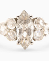 Digby & Iona Marquise-Cut Nico Engagement Ring with Diamond Clusters