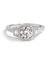 Sylvie Bridal Collection White Gold Engagement Ring