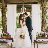 Couple's Portrait at a Garden Wedding