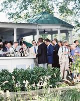 Guests at a Backyard Wedding