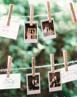 photograph seating card display