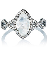 Monique Pean Marquise-Cut Engagement Ring with a Twisted Band