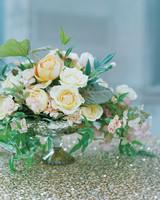 Peachy Wedding Centerpiece