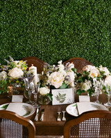 table setting flowers