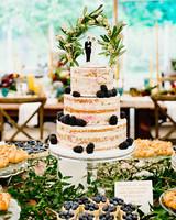 Naked Blackberry Wedding Cake