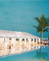 beach wedding reception tent