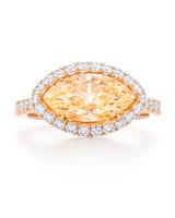 Kwiat Marquise-Cut Yellow Diamond Engagement Ring