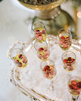 Cranberry and Champagne Cocktails for a Winter Bridal Shower